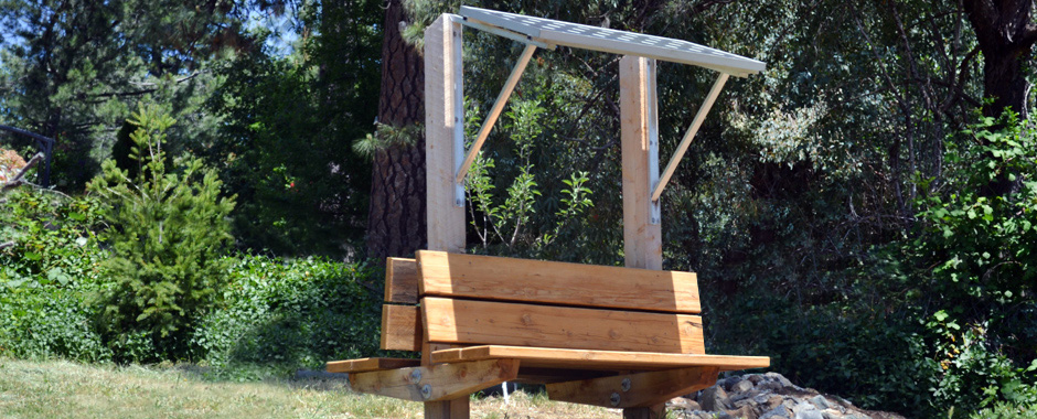 solar projects all projects power structures solar bench or picnic ...